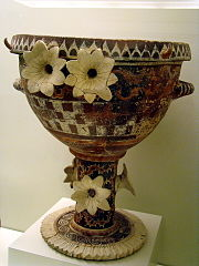 Minoan krater with flowers