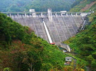 Minowa Dam Dam in Nagano Prefecture, Japan