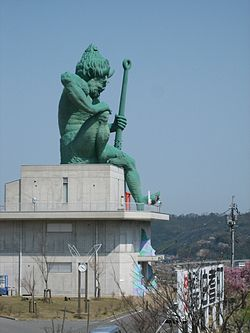 Large statue of an oni, Hōki, Tottori Prefecture