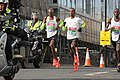 Mo Farah, Bashir Abdi and Daniel Wanjiru, 2019 London Half Marathon, 10 March 2019.jpg