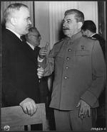 Mólotov conversando con Stalin