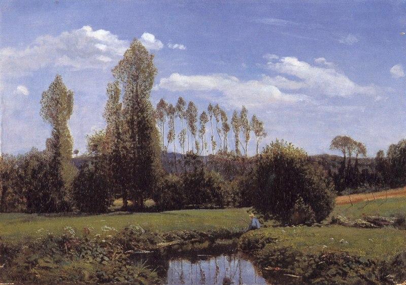 Monet, Claude - View At Rouelles, Le Havre (1858)