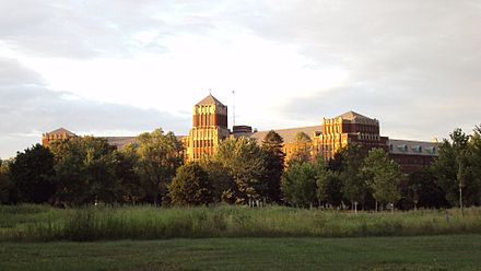 The main campus seen from West Elm Street in Monroe Monroe-IHM.jpg