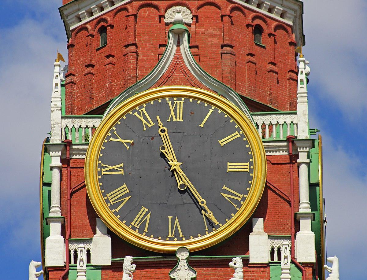 фото часы на спасской башне