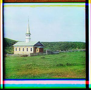 Mosque in the Bashkir village Yakhino (1910).jpg