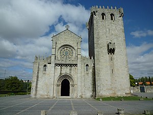 Leonor Teles - Church and tower of the monastery in Leça do Balio where King Ferdinand ad Leonor were married in 1372