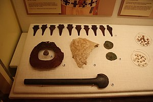 Metallurgy in pre-Columbian America - Mace shaped copper headdress ornaments from Moundville