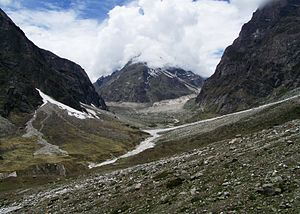 Satopanth Glacier - Image: Mount Balakun viewed from Basudhara