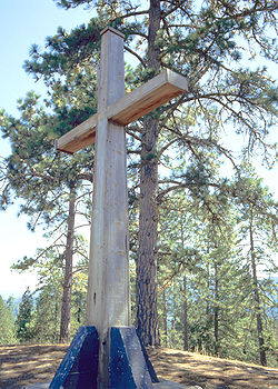 Cross on the summit of Mount Hermon