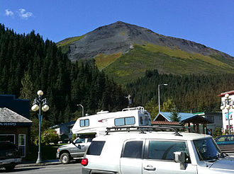 Mount Marathon Race - View of the mountain from Seward
