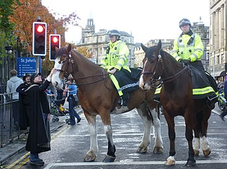 Lothian and Borders Police - Mounted police in Edinburgh