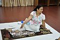 Mrs Manekar - Vakrasana - International Day of Yoga Celebration - NCSM - Kolkata 2015-06-21 7370.JPG