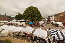 View of the 2014 Crafts Fair from Town Hall