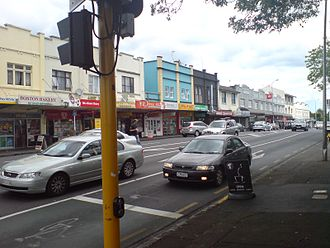 Mount Albert, New Zealand - The town centre, dominated by New North Road