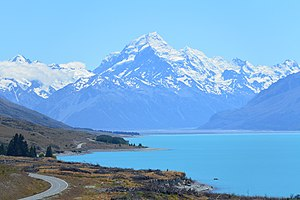 New Zealand - Aoraki / Mount Cook is the highest point of New Zealand, at 3,754 metres