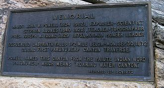 Mount Carmel Junction, Utah - Powell Plaque