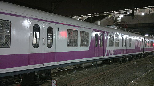 A prototype Bombardier rake, each coach has a capacity of 400 passengers, including standees. - Mumbai Suburban Railway