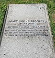 Munfrod, Mary Cooke Branch gravestone.jpg