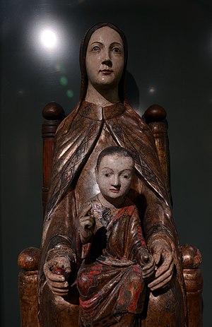 Virgin and Child with Saint Anne - Museum M Leuven, Sedes Sapientiae