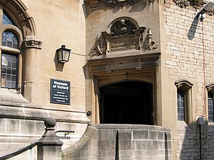 Museum of Oxford - Entrance to the museum.