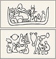 Musicians portrayed on pottery found at Chogha Mish archeological site.jpg