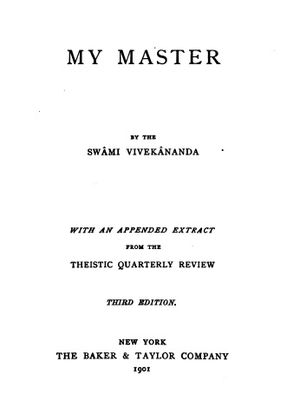 My Master (book) - Title page of 1901 edition