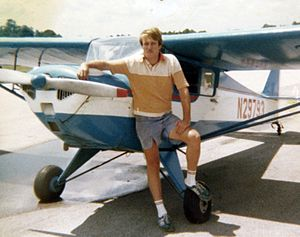 Hal Prewitt - Prewitt in 1979 with his 1941 Taylorcraft