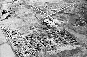 Buckley Air Force Base - Aerial view of the Naval Air Station Denver in the late 1940s