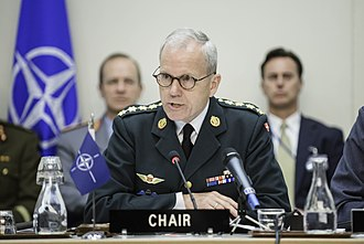 Chairman of the NATO Military Committee - General Knud Bartels in 2014