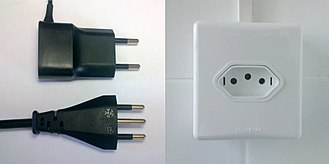 IEC 60906-1 - Image: NBR 14136 plugs and outlet