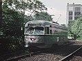 NJPSCT 13 (PCC) approaching Orange Street station, September 3, 1965 (22736683841).jpg