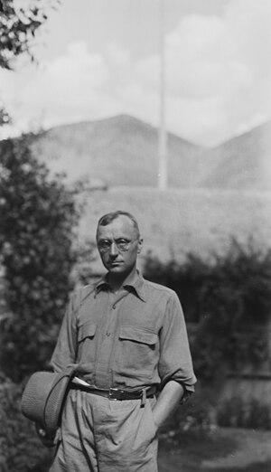 Georg Morgenstierne - Morgenstierne during a field work in Chitral, Pakistan