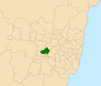 Electoral district of Fairfield - Location within Sydney