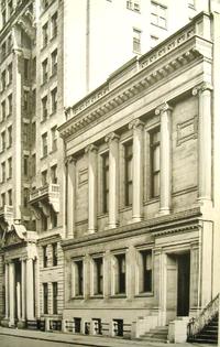 43rd Street Entrance Of The New York City Bar Association Building, Circa  1900