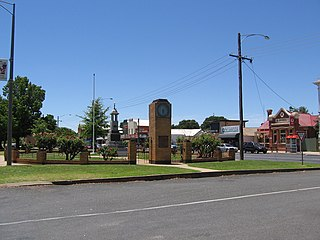 Nagambie Town in Victoria, Australia