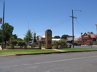 Nagambie - Memorial Park and main street