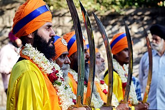Nagar Kirtan - Nagar Kirtan lead by the Panj Pyare, Bangalore