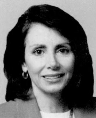 Nancy Pelosi - Pelosi as a member of the U.S. House of Representatives, 1993.