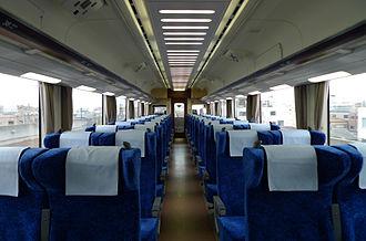 Nankai 12000 series - Image: Nankai 12000 series cabin
