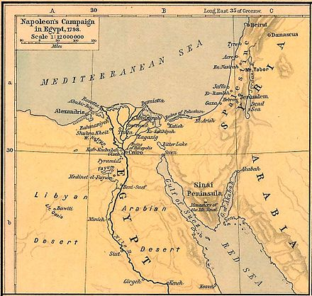 Map of campaigns in Egypt and Syria Napoleons Campaign in Egypt 1798.jpg