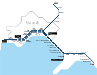Line 2 (Naples) - Destinations to/from line 2