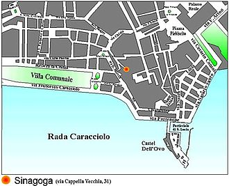 History of the Jews in Naples - Location of the synagogue in Naples