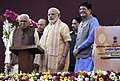 Narendra Modi launching the Integrated Power Development Scheme, at DLW Ground, Varanasi. The Governor of Uttar Pradesh, Shri Ram Naik and the Minister of State (Independent Charge) for Power (1).jpg