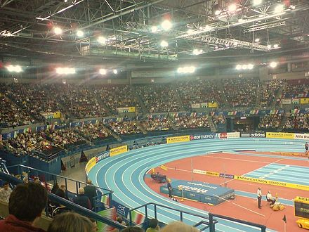International athletics at the National Indoor Arena NationalIndoorArena.jpg