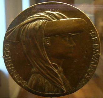 Iñigo I d'Avalos - Medal of Don Iñigo d'Avalos by Pisanello