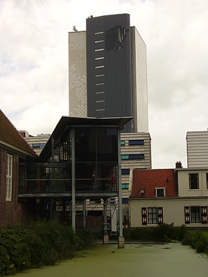 Naturalis Biodiversity Center - The tower of Naturalis, in which almost the entire collection is housed