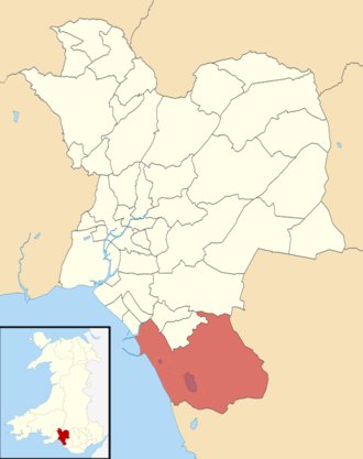 Margam - Location of Margam ward within Neath Port Talbot County Borough
