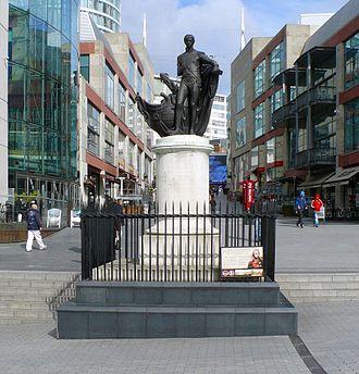 Statue of Horatio Nelson, Birmingham - Statue of Horatio Nelson, The Bull Ring, Birmingham