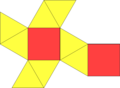 Net of square antiprism.png