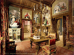 Dining room, Neuschwanstein Castle, Upper Bava...